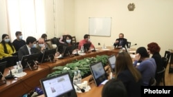 Armenia - A parliamentary commission tasked with investigating the Armenian government's response to the coronavirus pandemic holds its first meeting in Yerevan, January 25 ,2021.