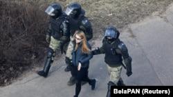 Затрыманьне ў Менску 27 сакавіка 2021