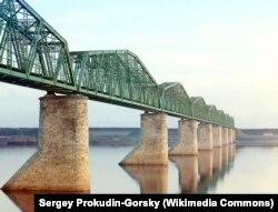 Металлический мост на реке Каме в Перми, около 1910. Фото Сергея Прокудина-Горского