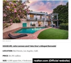 Jon Lennon va Ëko Ono qayta ta'mirlagani iddao qilingan ikkinchi villa.