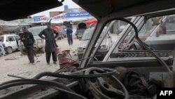 Forcat paraushtarake në Pakistan pas një shpërthimi me bombë në vitin 2014