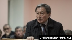 Kyrgyzstan - Kanatbek Turganbekov, ex court during the trial of Daniyar Narymbaev and Hajimurat Korkmazov, Bishkek, 19Oct2015