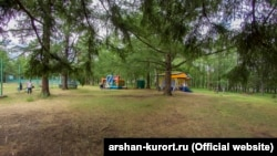 Курортный посёлок Аршан в Бурятии