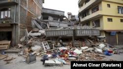 Непал -- Жер титирөөдөн кийинки Катманду шаары, 25-апрель, 2015