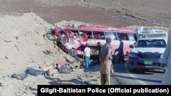 The bus was reportedly headed from the northern town of Skardu to Rawalpindi, in Punjab.