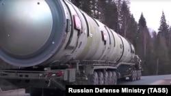 Минобороны России продемонстрировало ракету «Сармат» в 2018 году