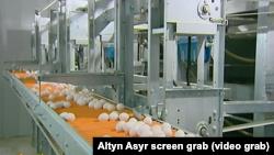 Кадр из репортажа государственного ТВ Туркменистана