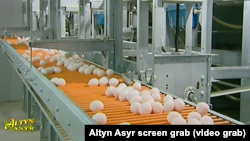 "Türkmenistanyň ""Altyn Asyr"" döwlet telewideniýesiniň wideo reportažyndan alnan surat"