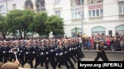 Парад до російського Дня перемоги в Севастополі 9 травня 2018 року