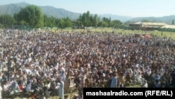 FILE: Thousands of supporters of the Pashtun Tahafuz Movement (PTM) protest in Swat, a district in Pakistan's northwestern Khyber Pakhtunkhwa Province in April.