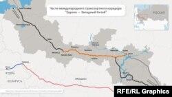 """Участок транспортного коридора """"Евроа - Западный Китай"""""""