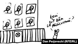 Guvern în carantină - desen de Dan Perjovschi