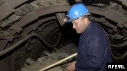 Рудар во рудник за јаглен, илустрација