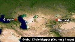 Бишкек менен Грозныйдын учуу аралыгы 2320 чакырымды түзөт.