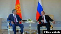 Алмазбек Атамбаев менен Владимир Путин. Санкт-Петербург, 16-март, 2015