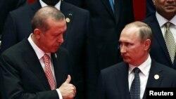 Путин жана Эрдоган Чоң жыйырманын Кытайдагы саммитинде. 4-сентябрь, 2016-жыл.