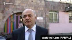 Кандидат в мэры Еревана от партии «Оринац еркир» Мгер Шахгельдян, Ереван, 23 сентября 2018 г.