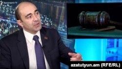 Руководитель оппозиционной парламентской фракции «Лусавор Айастан» Эдмон Марукян в студии Азатутюн ТВ, Ереван, 6 февраля 2020 г.