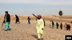 Гильменд уәлаяты Сангин ауданындағы жергілікті полиция өкілдері. Ауғанстан, 31 қаңтар 2017 жыл.