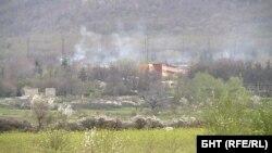 "Снимка на района на ВМЗ ""Сопот"" до село Иганово след втората поредица от взривове"
