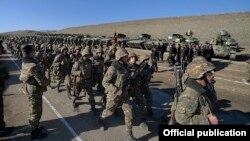 Jermenski vojnici učestvuju u vojnoj vježbi, Nagorno-Karabah, ilustrativna fotografija