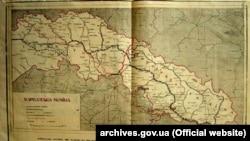 Мапа Карпатскої України з газети «Українські вісті», 21 листопада 1938 року