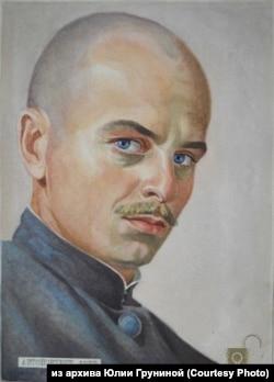 Юрий Грунин. Автопортрет. 1953