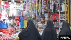 Female cutomers in a shop in Tehran (file photo)