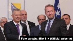 Koalicija ostaje: Fahrudin Radončić i Bakir Izetbegović