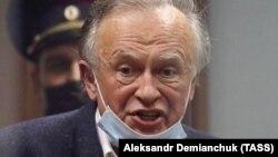 Historian Oleg Sokolov attends a court hearing in St. Petersburg on October 12.