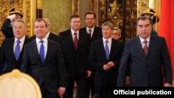 Главы некоторых постсоветских государств на саммите Евразийского союза в Москве. 19 марта 2012 года.