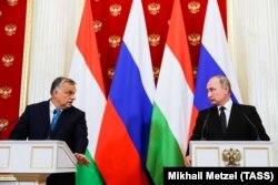 Сближение с Кремлем – одна из характерных черт внешней политики Виктора Орбана. На снимке венгерский премьер с Владимиром Путиным во время визита в Москву в сентябре 2018 года
