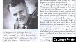 Extras din amintirile violoncelistului Alexander Kok despre Dinu Lipatti (source: Classical Recording Quarterly, No. 67)
