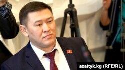 """""""Республика"""" партиясынан келген талапкер Русланбек Жакышев."""