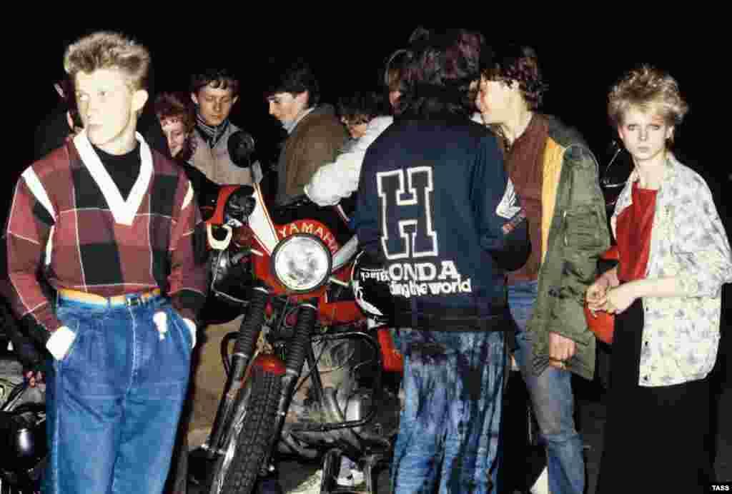 Байкеры в Лужниках, 1987 год.