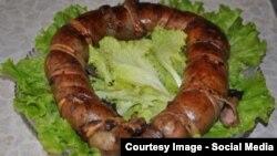 Деликатесная киргизская колбаса чучук