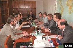 С Ахмедом Закаевым. Российско-чеченские переговоры в Совете безопасности, июль 1997-го