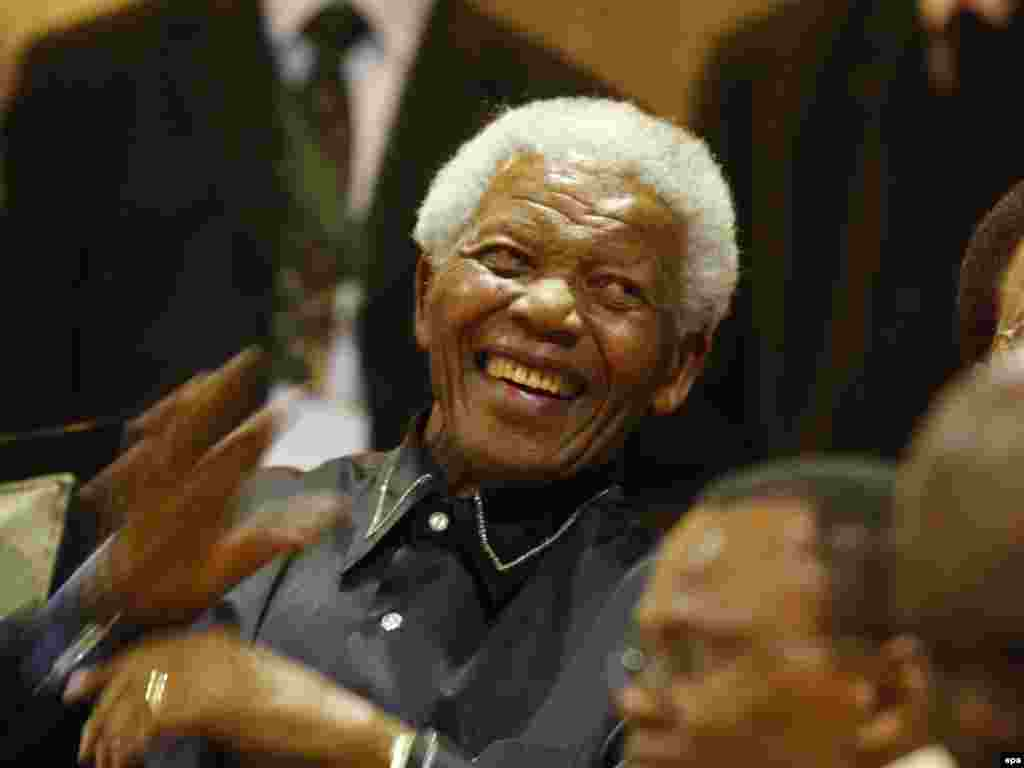 Former South African President Nelson Mandela marks the 20th anniversary of his release from prison.