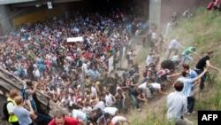 Twenty-one people were killed in the stampede