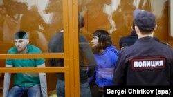 Զինվորական դատարանը քննում է Նեմցովի սպանության գործը, Մոսկվա, 27-ը հունիսի, 2017թ.