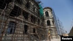 قصر دارالامان هنگام بازسازی