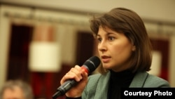 Daria Kaleniuk from the Kyiv-based Anticorruption Action Center