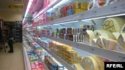 Stocked shelves in the Ukrainian city of Vinnitsa (file photo)