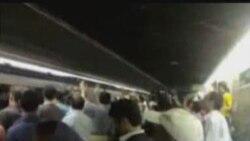 تظاهرات در مترو تهران