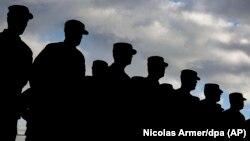 سربازان آمریکایی در پادگانی در ایلسهایم آلمان