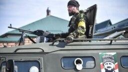 Учения в Российском университете спецназа в Чечне