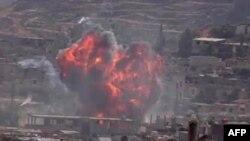 Бои в одном из пригородов Дамаска