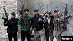 Вооруженные повстанцы в Алеппо, 12 июня 2013 г.
