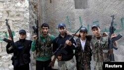 Kryengritës sirianë në Alepo