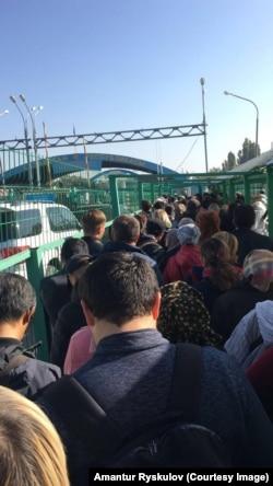 Кыргыз-казак чегиндеги тыгын. 11-октябрь, 2017